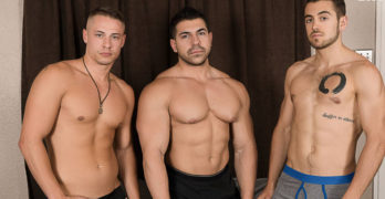 Bareback Threeway Starring Damien Stone, Dante Colle, and Aston Springs