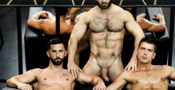 Francois Sagat Gets Tag Teamed By Paddy O'Brian and Sunny Colucci