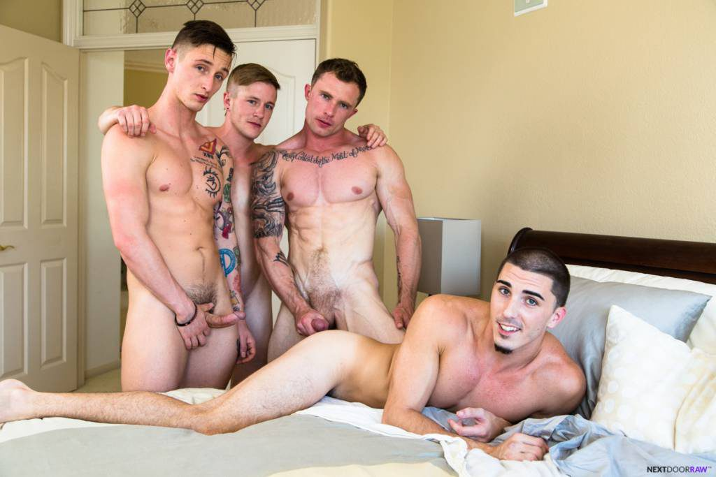 Markie More, Lance Ford, Chris Blades, and Damien Kyle BAREBACK ORGY