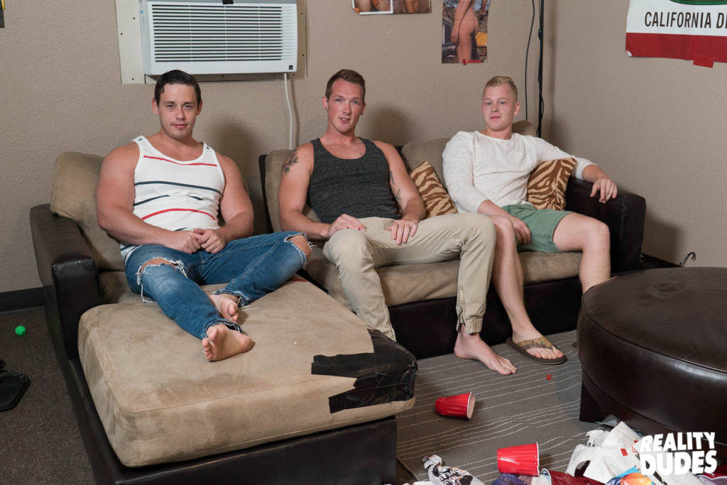 Horny Frat Boys Jackson Cooper, Tobias, and Leo Luckett Fuck Raw