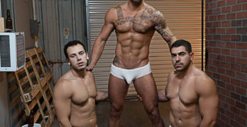 "Damien Stone, Michael Roman, and Leon Lewis In ""Whore Alley"""