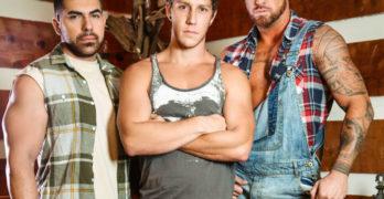 "Paul Canon, Michael Roman, and Damien Stone Fuck In The ""Bayou"""