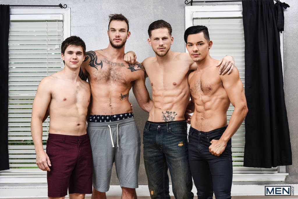 Cliff Jensen, Will Braun, Roman Todd, and Ethan Slade ORGY
