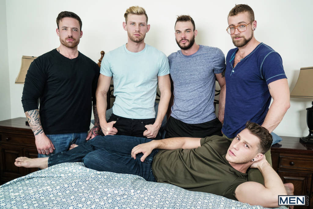 "Jordan Levine, Cliff Jensen, Jay Austin, Jacob Peterson, and Paul Canon ""Gaymates"""
