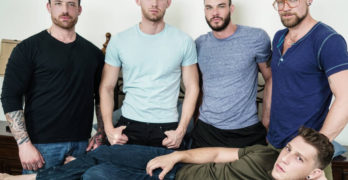 "Jordan Levine, Cliff Jensen, Jay Austin, Jacob Peterson, and Paul Canon ""Gaymates"""