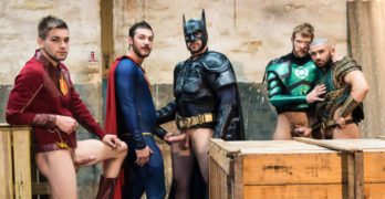 Justice League XXX – Colby Keller, Johnny Rapid, Ryan Bones, Francois Sagat, and Brandon Cody