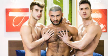 "Paddy O'Brian and Francois Sagat Tag Team Allen King In ""Sex God"""