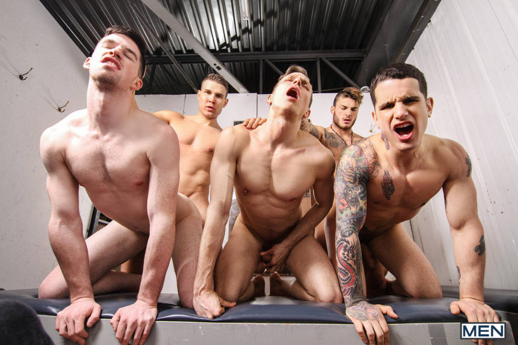 Incredible Orgy! Starring William Seed, Thyle Knoxx, Ethan Chase, and Jordan Fox