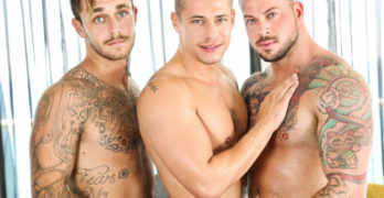 "Brian Michaels, Sean Duran, and Aston Springs Fuck In ""Game On"""