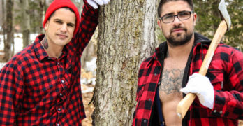 "Hung Stud Ryan Bones Fucks Pierre Fitch In ""Lumbersexual"""