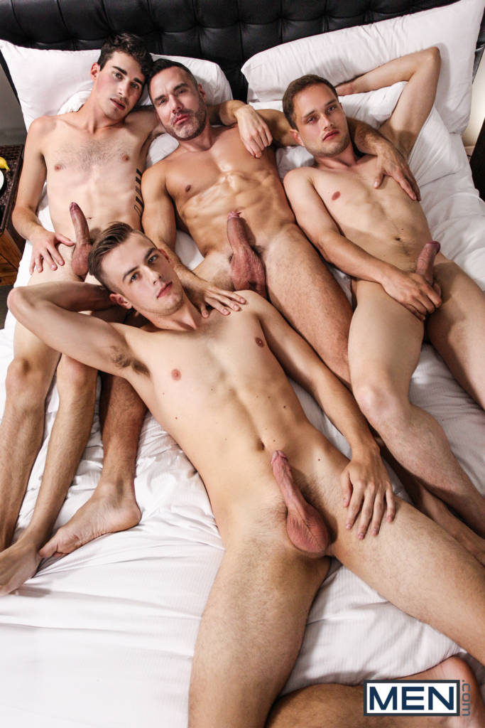 Daddy's Day Orgy! Manuel Skye, Stig Andersen, Jake Washington, and Jake Nobello
