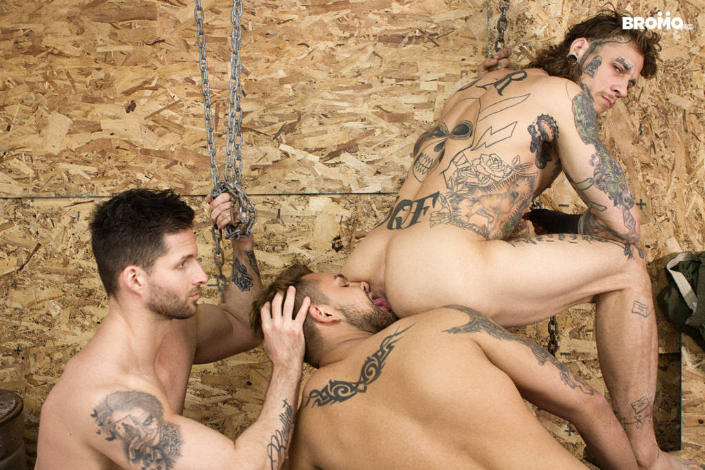 Bo Sinn, Jax Damon, and Logan Style's Bareback 3 Way