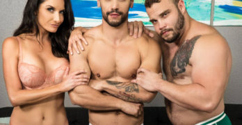 Arad Winwin and Daxx Carter Star In Men.Com's First Fully Bisexual Scene
