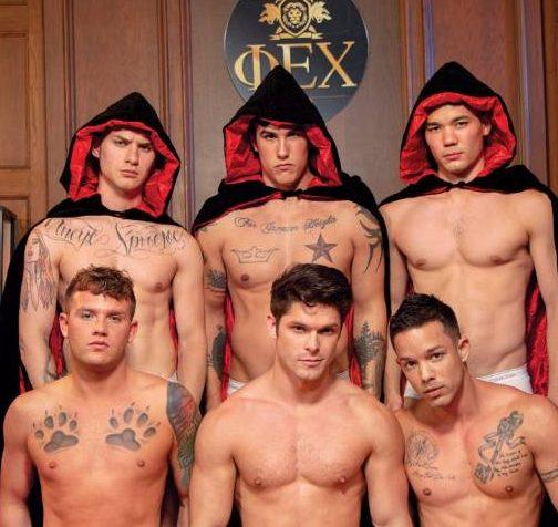 Falcon's Hot Bareback Frat Orgy Starring Devin Franco, Nic Sahara, Zak Bishop, Colton Reece, Trevor Miller, and Brandon Wilde