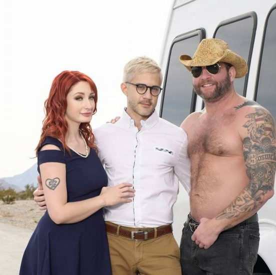 Colby Jansen, Sherman Maus, and Violet Monroe's Bisexual Bareback 3 Way