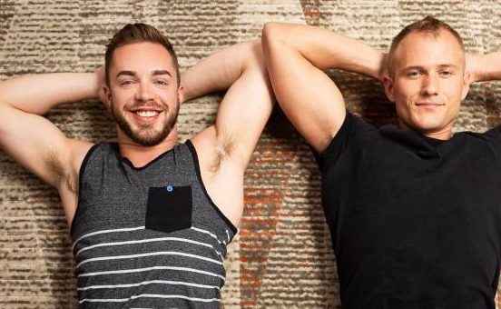 Cam and Blake's Bareback Flip Fuck At Sean Cody