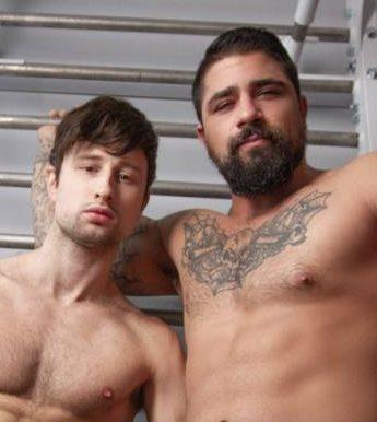 Ryan Bones and Drew Dixon's Sweaty Bareback Fuck
