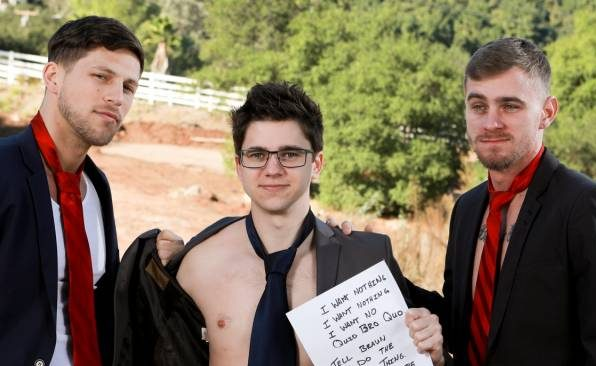 Roman Todd, Ryan Jordan, and Will Braun's Bareback Threesome
