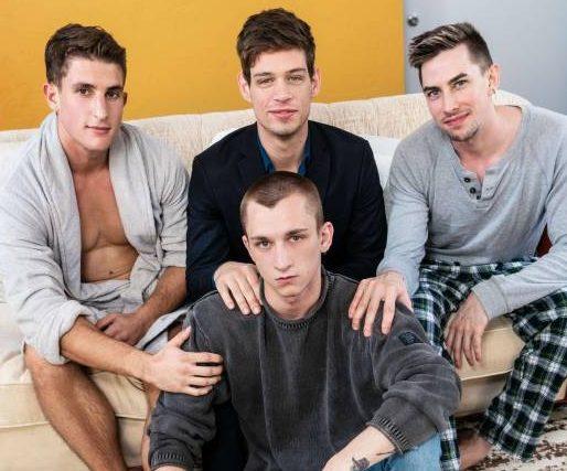 Theo Brady, Zane Williams, Jack Hunter, and Michael Del Ray's Bareback Orgy