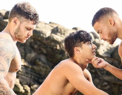 Matthew Camp, Angel Rivera, and Beaux Banks Fuck Raw In Rise Of The Sirens Part 4