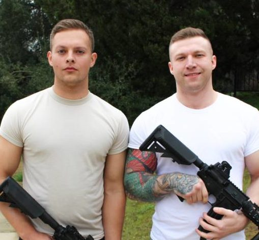 Young Military Studs Mike Johnson and Justin Weston Fucks Raw