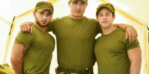 Tobias, Axel Kane, and Vadim Black's Hot Military Threeway