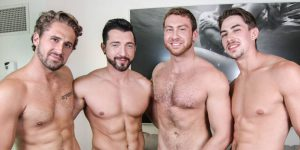Connor Maguire, Jimmy Durano, Jack Hunter, and Wesley Woods ORGY!