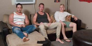 Horny Frat Boys Jackson Cooper, Tobias, and Leo Luckett Fuck Raw
