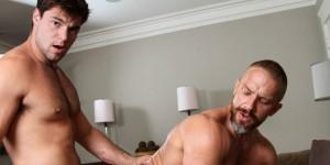 "Aspen Fucks Gay Porn Daddy Dirk Caber - ""The In-Laws"""