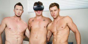 Justin Matthews, JJ Knight, and Pierce Paris' Virtual Fuck