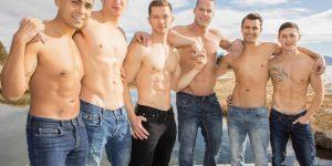 Asher, Deacon, Lane, Jack, Dillan & Malcolm's Bareback Orgy!