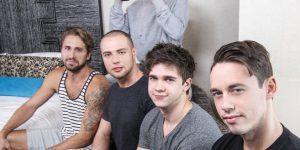Pop Star Johnny Rapid, Will Braun, Brendan Phillips, Wesley Woods, and Tobias