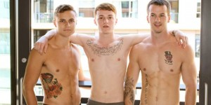Bareback Military 3 Way With Active Duty Studs DOMINIC, SAWYER & QUENTIN