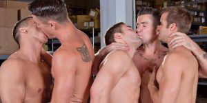 Trenton Ducati, Connor Patricks, Ryan Rose, and Rod Peterson Gangbang Griffin Barrows