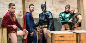 Justice League XXX - Colby Keller, Johnny Rapid, Ryan Bones, Francois Sagat, and Brandon Cody