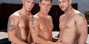 Roman Todd, Spencer Laval and Justin Matthews' Hot Bareback Threeway